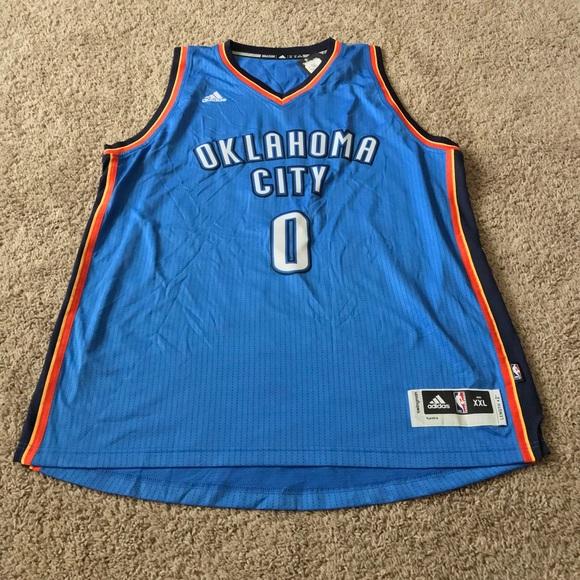 f70b33ffb00 adidas Shirts | New Russell Westbrook Okc Thunder Nba Jersey | Poshmark